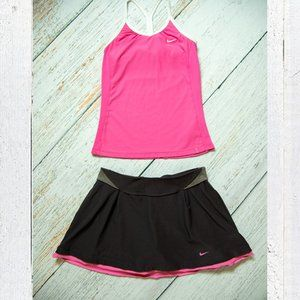 Nike tennis outfit dri-fit pink and brown  Size S